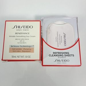 SHISEIDO Benefiance Wrinkle Cream & Cleansing Wipe
